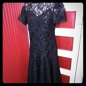 Vintage HW Collection Lace Sequin Dress 12